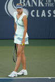 De spelen van Maria Sharapova bij de Reis WTA Royalty-vrije Stock Foto's