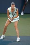 De spelen van Maria Sharapova bij de Reis WTA Royalty-vrije Stock Foto