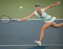 De spelen van Maria Sharapova bij de Reis WTA Stock Afbeeldingen