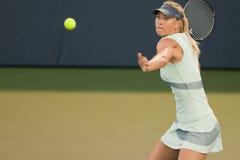 De spelen van Maria Sharapova bij de Reis WTA Stock Foto