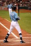 De speler BJ Upton van de Stralen van de Baai van MLB Tamper Stock Foto's