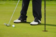De speler van het golf het zetten Royalty-vrije Stock Foto