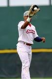 De Speler die van het honkbal bal vangt - Richie Robnett Stock Foto