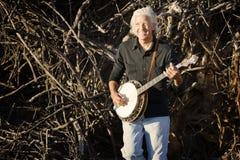De Speler van de banjo Stock Afbeelding