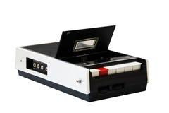 De speler van de cassette op wit royalty-vrije stock foto's