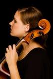 De speler van de cello Stock Foto's
