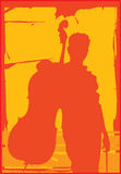 De Speler van de cello Royalty-vrije Illustratie