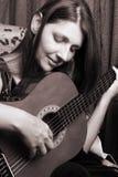 De speler van de gitaar Stock Foto