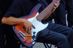 De speler van de gitaar Stock Afbeelding