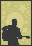 De speler van de gitaar stock illustratie