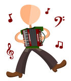 De speler van de harmonika Stock Afbeelding