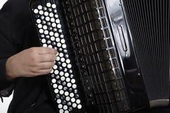 De Speler van de harmonika stock foto's