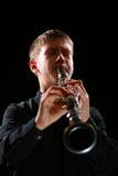De speler van de klarinet stock fotografie
