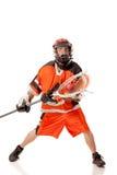 De Speler van de lacrosse stock fotografie