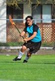 De speler van de lacrosse Stock Afbeelding