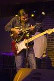 De speler van de mandoline en van de gitaar Stock Foto