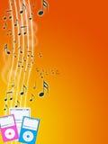 De speler van de muziek mp3 Stock Afbeelding