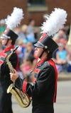 De Speler van de paradesaxofoon Stock Foto's