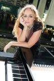 De speler van de piano Royalty-vrije Stock Foto's