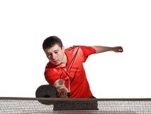 De speler van de pingpong Stock Foto's