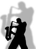 De speler van de saxofoon Royalty-vrije Stock Fotografie