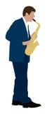 De speler van de saxofoon Stock Foto