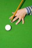 De speler van de snooker stock foto's