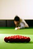 De speler van de snooker stock afbeeldingen