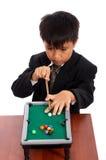De speler van de snooker het raken royalty-vrije stock afbeelding