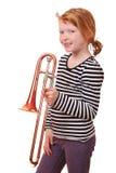 De speler van de trombone Stock Fotografie