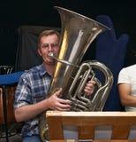 De speler van de tuba Stock Fotografie