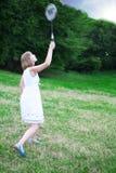 De speler van het badminton Royalty-vrije Stock Foto's