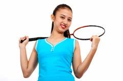 De speler van het badminton stock foto