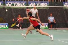 De speler van het badminton Stock Afbeeldingen