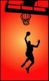 De speler van het basketbal Royalty-vrije Stock Afbeeldingen