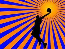 De speler van het basketbal Royalty-vrije Illustratie