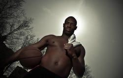 De speler van het basketbal Stock Foto