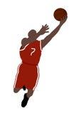 De speler van het basketbal Stock Illustratie
