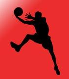 De Speler van het basketbal in Actie vector illustratie