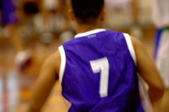 De speler van het basketbal in motie Royalty-vrije Stock Foto