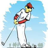 De speler van het golf vector illustratie