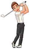 De speler van het golf. royalty-vrije illustratie