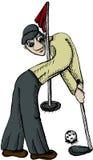 De speler van het golf Royalty-vrije Illustratie