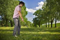 De Speler van het golf Stock Foto's