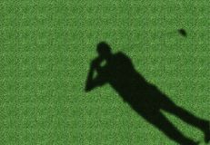 De Speler van het golf Stock Afbeelding