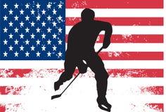 De speler van het hockey vector illustratie