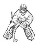 De speler van het hockey royalty-vrije illustratie