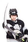 De speler van het hockey stock fotografie