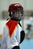 De Speler van het hockey Stock Afbeeldingen