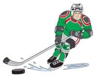 De Speler van het hockey Stock Foto